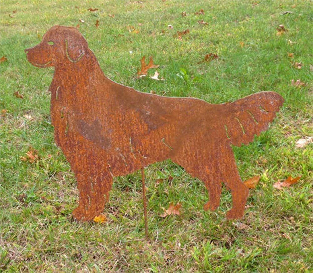 Golden Retriever Garden Stake or Wall Hanging