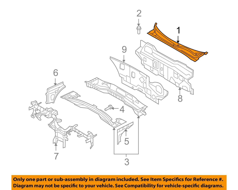 Top Left Genuine Hyundai 86150-0A000 Cowl Cover Assembly