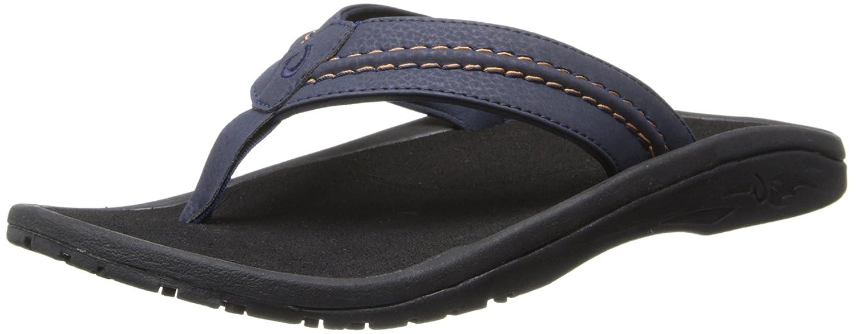 Trench bluee Black OluKai Men's Hokua Thong Sandal