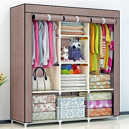 Amazon.com: Triple Portable Heavy Duty Clothes Wardrobe Closet