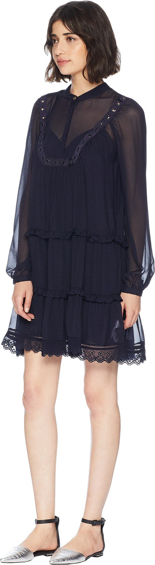 Juicy Couture Women's Seersucker Embroidered Trim Dress Zenith Petite/X-Small by Juicy Couture (Image #2)