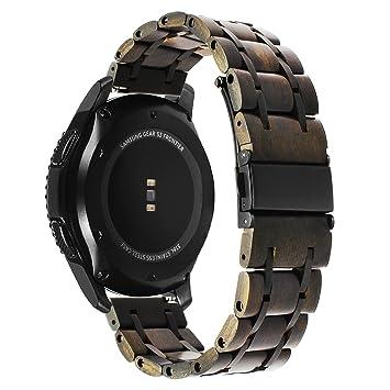 TRUMiRR para Garmin Vivoactive 3 Correa de Reloj, 20mm Banda de Reloj de Madera Natural: Amazon.es: Deportes y aire libre