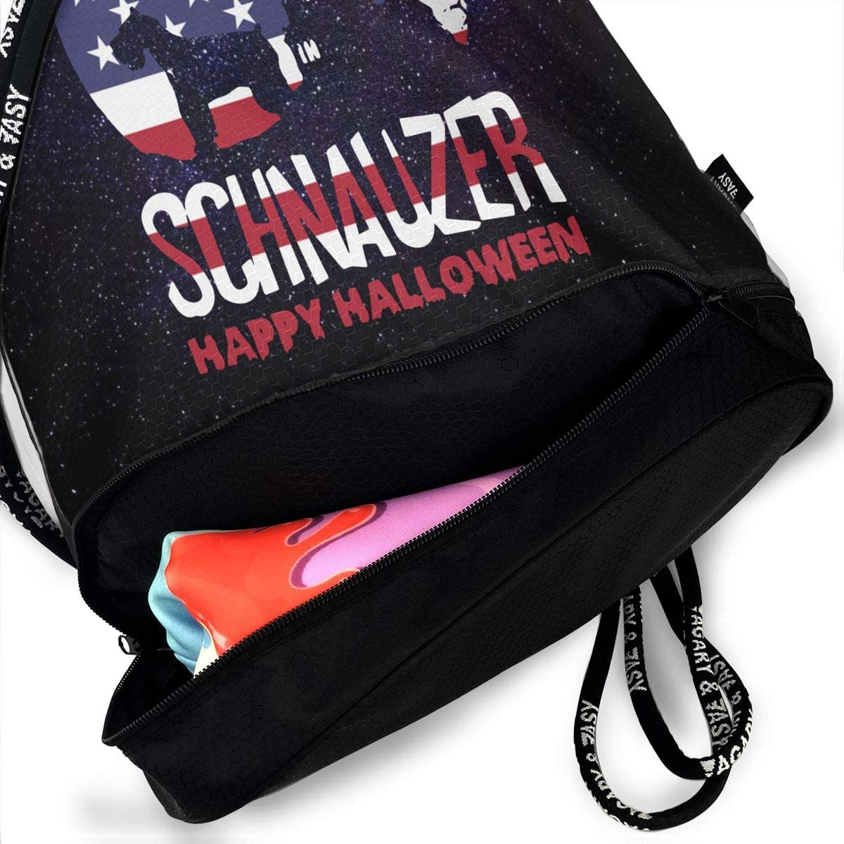 SG0HGO Drawstring Backpack Bag Happy Halloween American Flag Men /& Women Home Travel Shopping Shoulder Bags