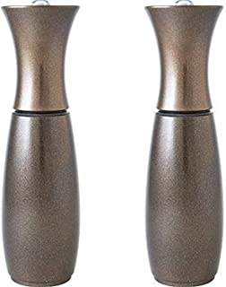 product image for Fletchers' Mill Border Grill Salt & Pepper Mill, Cherry Metallic Copper - 8 Inch, Adjustable Coarseness Fine to Coarse, MADE IN U.S.A.