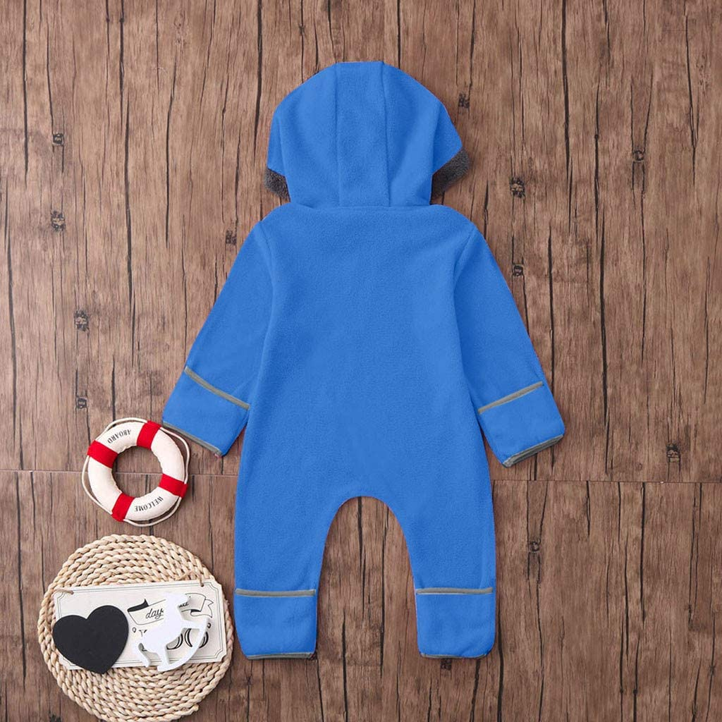 MORETIME Unisex Baby Onesies Footed Romper Fleece Wool Jumpsuit Solid Hoodie Sale Bear Ear Cartoon Zipper Playsuit Festival Gift Long Sleeve Bodysuit Snowsuit Son Daughter Newborn Girls Boys