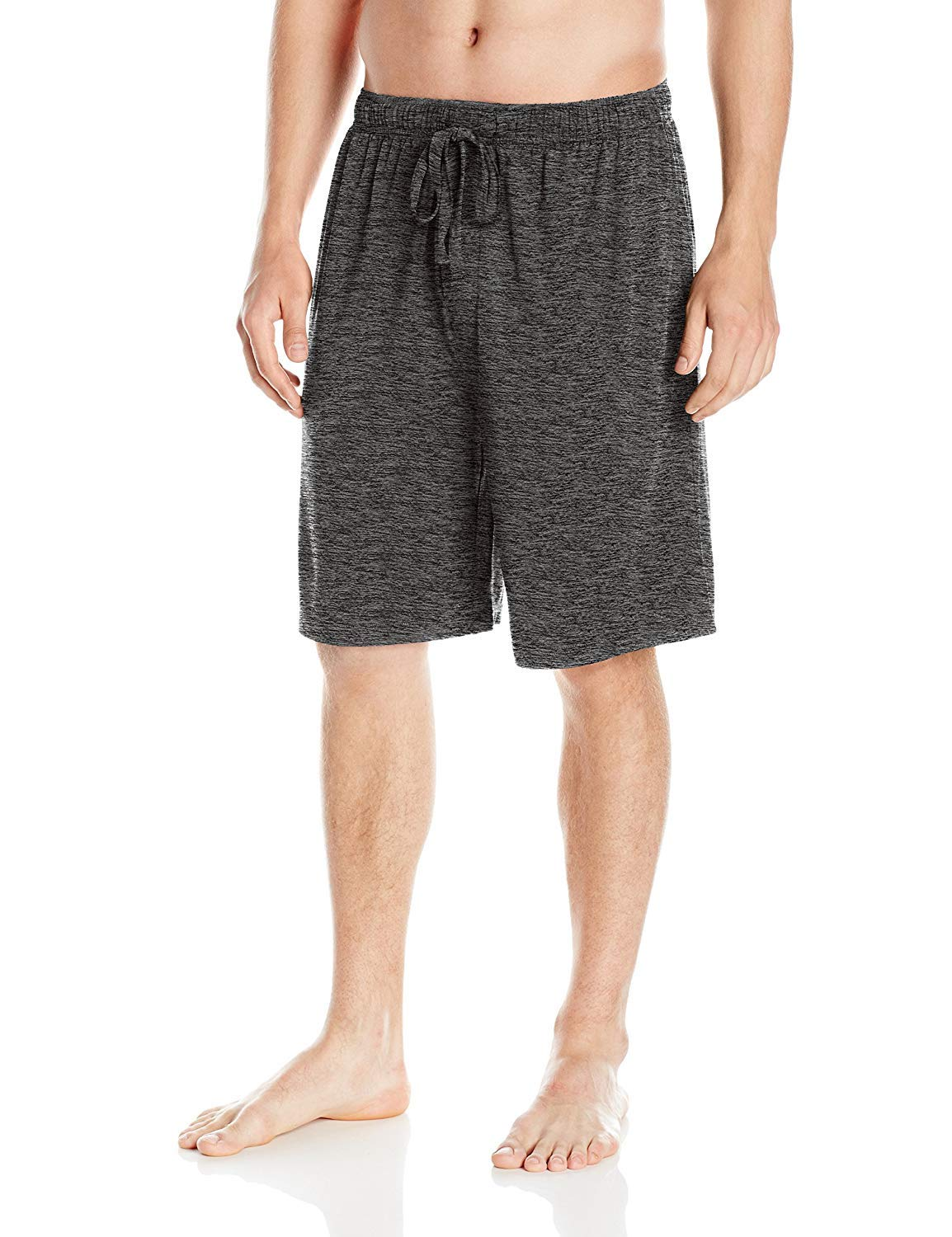 SGNOIEY Men's Sleep Shorts,100% Cotton Knit Sleep Shorts & Lounge Wear-Grey L