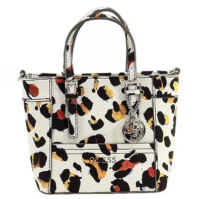 GUESS Delaney Leopard-Print Mini Tote: Handbags: