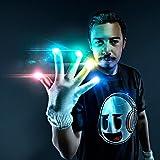 Emazing Lights Electro LED Gloves, 7 Light Flashing Modes - #1 Leader in Gloving & Light Shows (White Gloves)