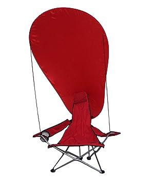 takestop® - Silla Plegable con Parasol, Color Rojo, para ...