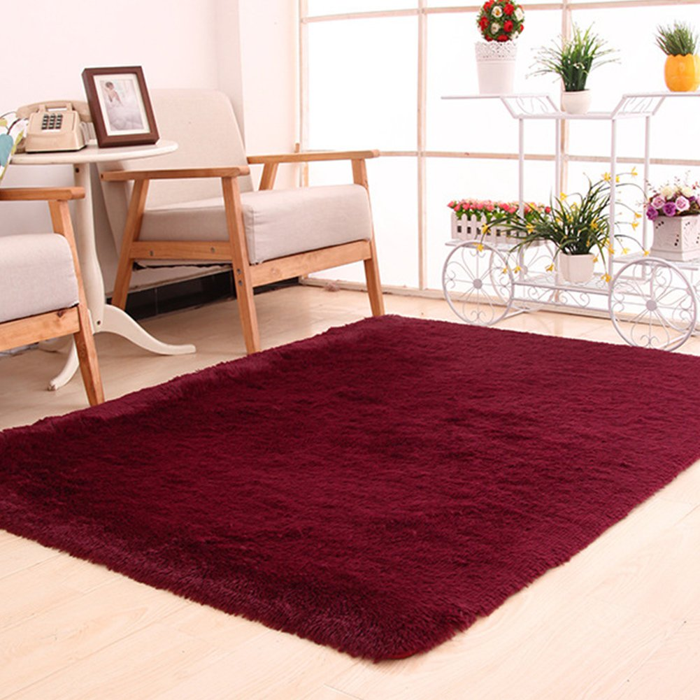 FAVOLOOK Large Plush Shaggy Floor Rug, Thicken Soft Natural Runner Washable Area Mats Floor for Dining Living Room Bedroom Home Office(47.2 x 62.9IN)