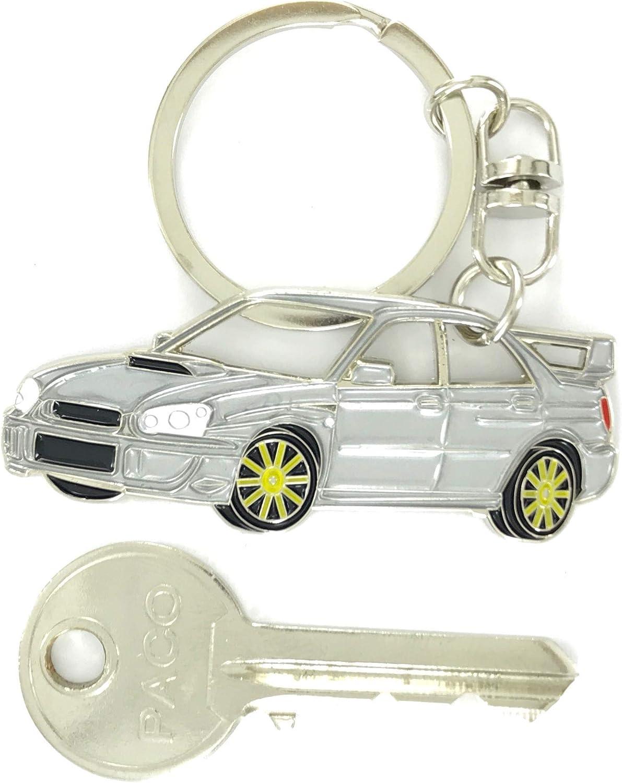 Impreza WRX Key Chain for car Accessories Replica. Enamel Silver Chrome Metal tag