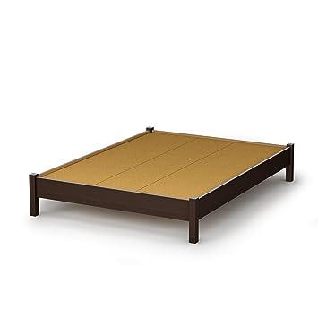south shore sandbox collection 54 inch full platform bed chocolate - Full Platform Bed Frame