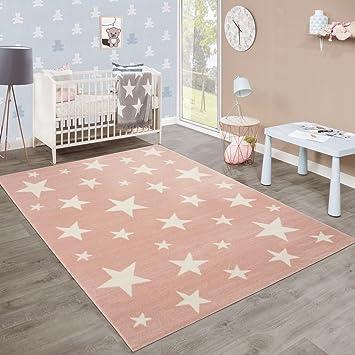 moderne poils ras tapis enfant motif toil chambre denfant pastel rose blanc dimension - Tapis Chambre