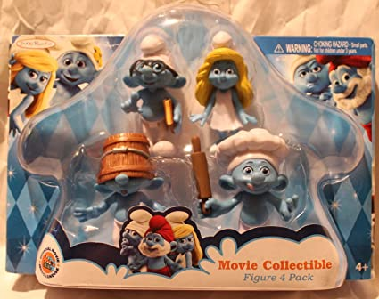 Amazon.com: Pitufos Movie Collectible figure 4 Pack ...