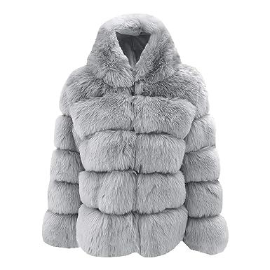 Manteau long gris pour femme