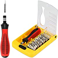 Apsung 37 in 1 Precision Screwdriver Set with Slotted, Phillips, Torx& More Bits, Non-Slip Magnetic Electronics Tool Kit for Repair iPhone, Android, Computer, Laptop, Watch, Glasses, PC etc