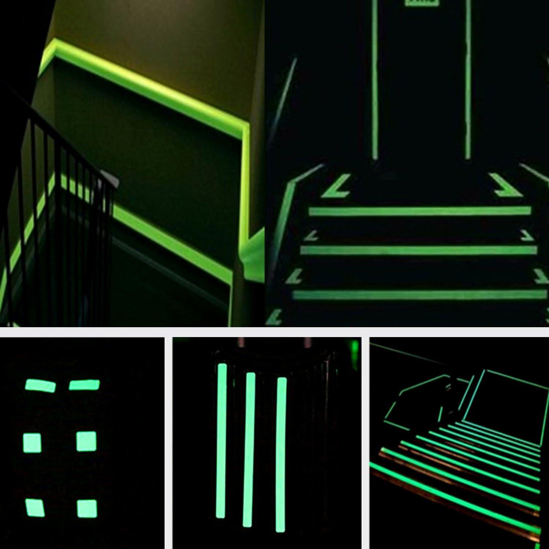 Ruban adh/ésif Fluorescent YeeStone 10 m /× 15 mm /étanche et Lumineux Ruban adh/ésif Brillant dans Le Noir
