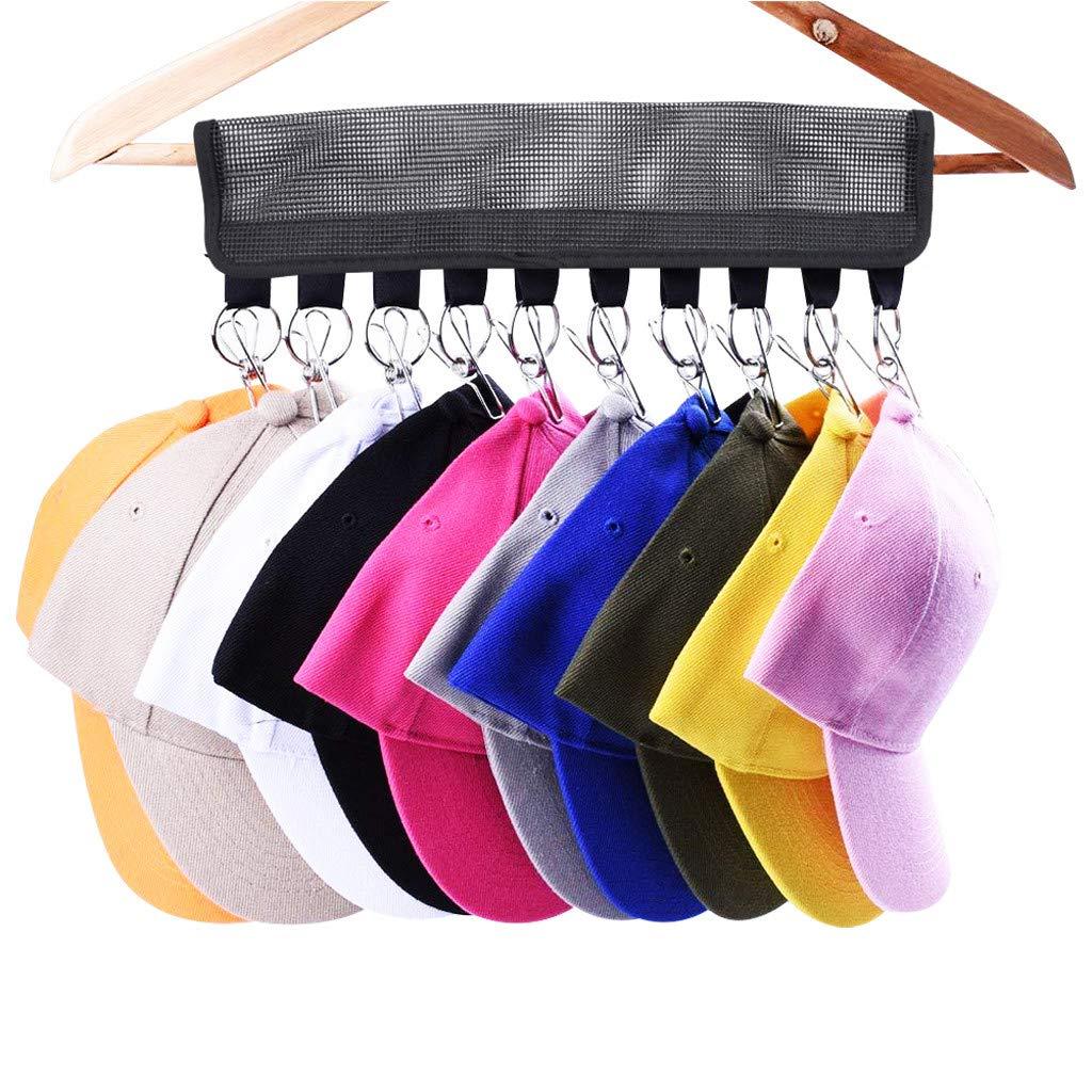 Highpot Cap Organizer Hanger Baseball Cap Holder Hat Organizer Clips - Change Your Cloth Hanger to Cap Organizer Hanger (A)