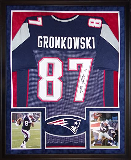 48f93ea0 Rob Gronkowski New England Patriots Autograph Signed Custom Framed Jersey  JSA Witnessed Certified at Amazon's Sports Collectibles Store