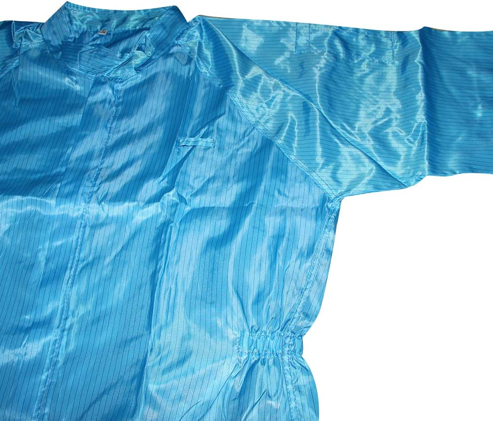 Othmro Dust Proof Coverall XXL Blue 3PCS Anti-Static Coveralls for Spray Painting Cleaning Work