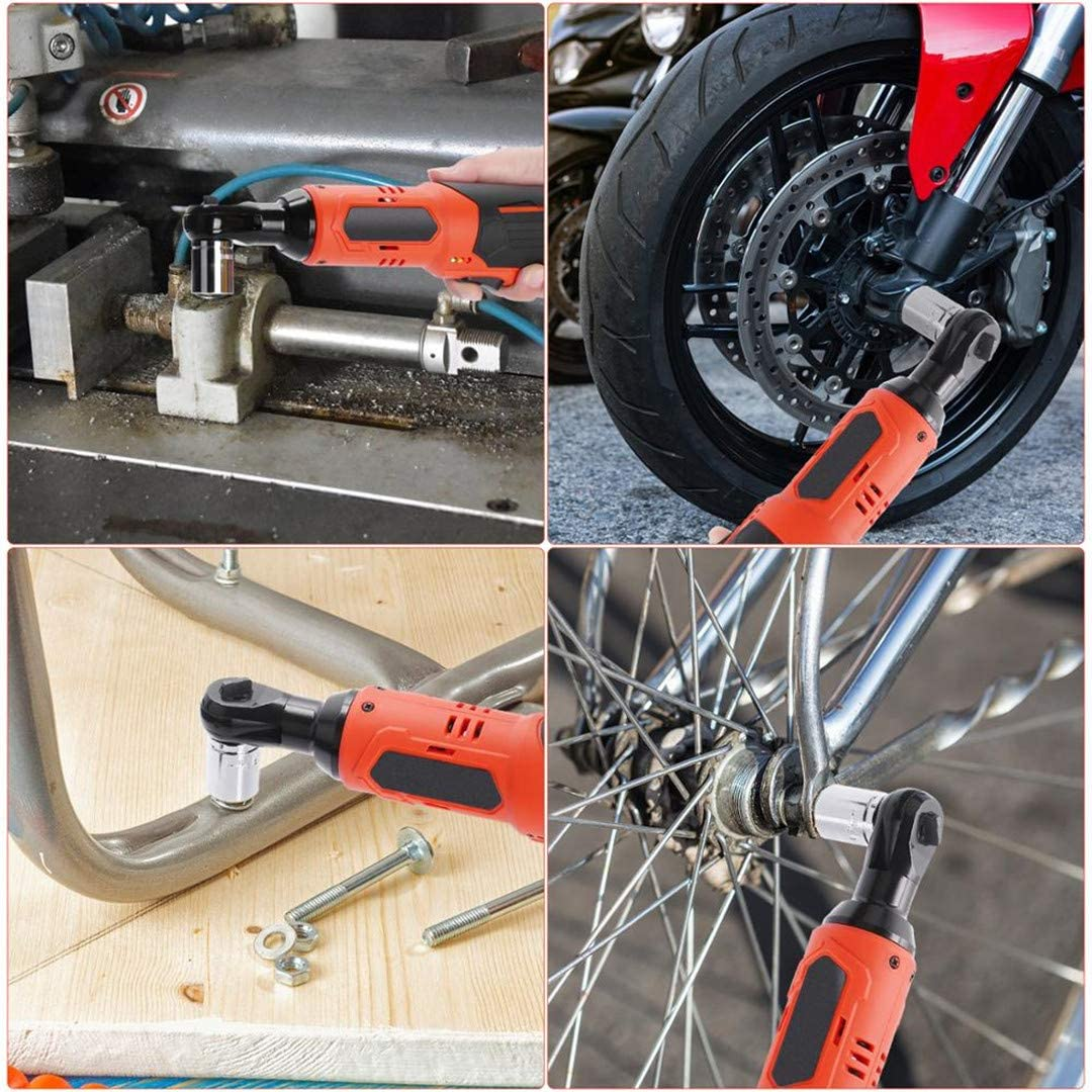 12V//16.8V Cordless Electric Wrench 3//8 Ratchet Wrench Lithium Battery Car Wrench Hand Drill Installation Power Tools 4065