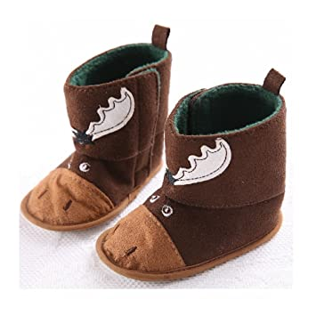 Amazon.com   Treadmill shoes 0-1 year-old male and female baby shoessoft  bottom winter warm plus velvet snow boots baby shoes Christmas gifts (2 1542ce0d52