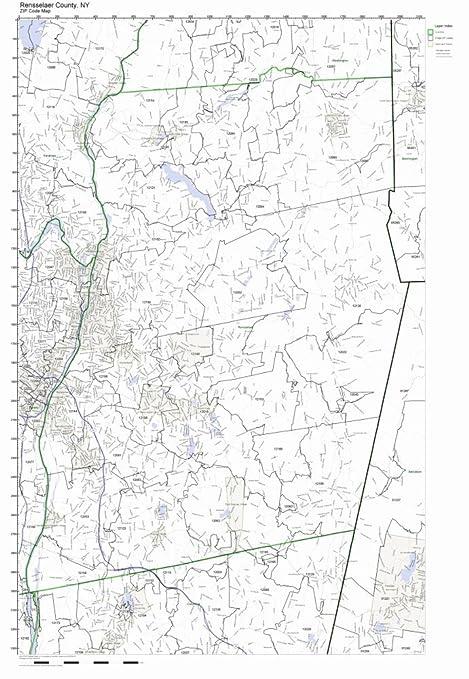Amazon Com Rensselaer County New York Ny Zip Code Map Not