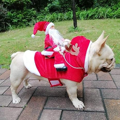 ChYoung Trajes de Mascotas con Santa Claus Disfraces de ...
