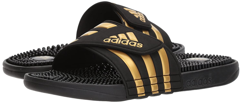 hot sale online 3fa05 927ae adidas Sandalia adlisage para hombre Leyenda de tinta   oro metálico   tinta  de leyenda