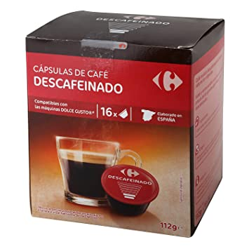 1 Pack Carrefour Coffee Pods - Descaffeinated Espresso Flavor - Capsules Compatible with Nespresso Machine &