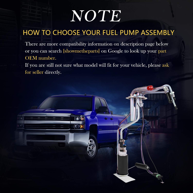 DWVO Fuel Pump for 1988-1995 Chevy Chevrolet GMC C//K 1500 2500 3500 4.3L 5.0L 5.7L 7.4L