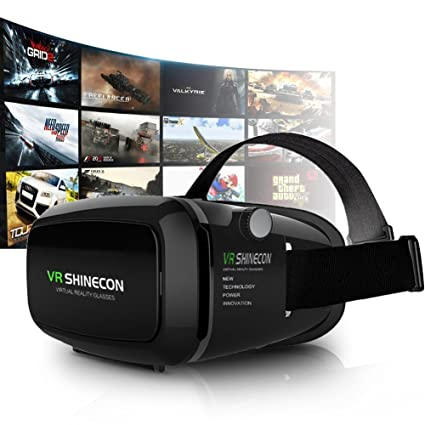 3D VR Gafas 3D VR Casco Realidad Virtual Ajustable 3D y Juegos de Vídeo Compatible con