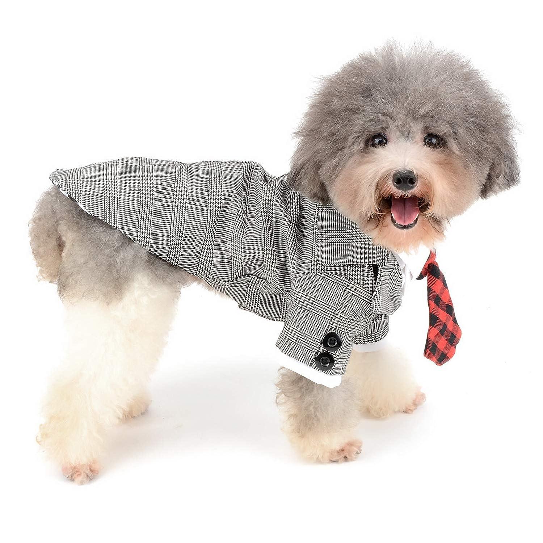 para Boda Zunea Ropa Disfraz de Cachorro con Corbata Formal para Mascota Disfraz de Esmoquin para Perro peque/ño Gato Novio Vestido Fiesta