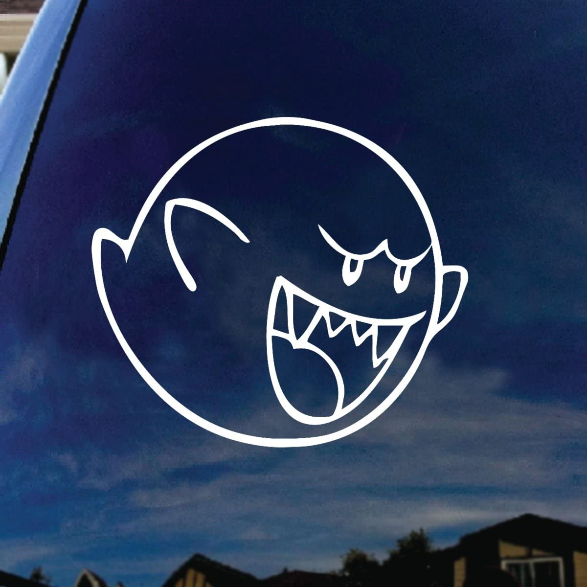 Mario Boo Vinyl Car Window Laptop Decal Sticker