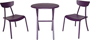 Christopher Knight Home 304938 Lucy Outdoor Bistro Set, Matte Purple