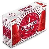 PAQUETE 5 CAMPARI SODA APERITIVO LIGERAMENTE ALCOHÓLICO 98ml