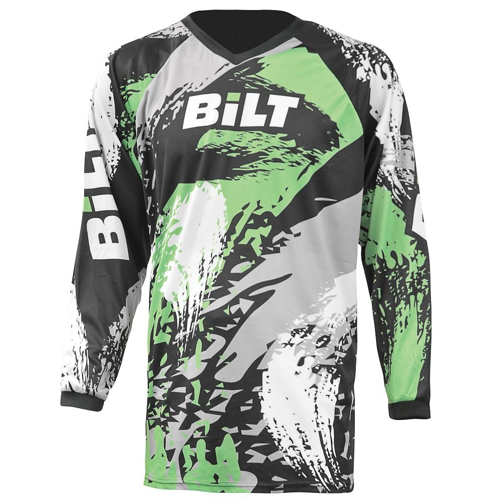 BILT Kid's Amped Off-Road Motorcycle Jersey - MD, Black/Gray