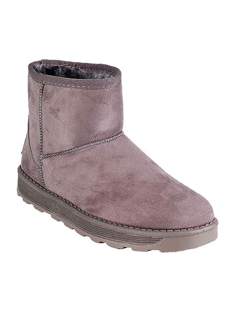 gogo shoes Stivaletti con Pelo Foderati Ecopelliccia Stivaletti Bassi  Invernali Stivaletti Neri (39 EU 984b4278266