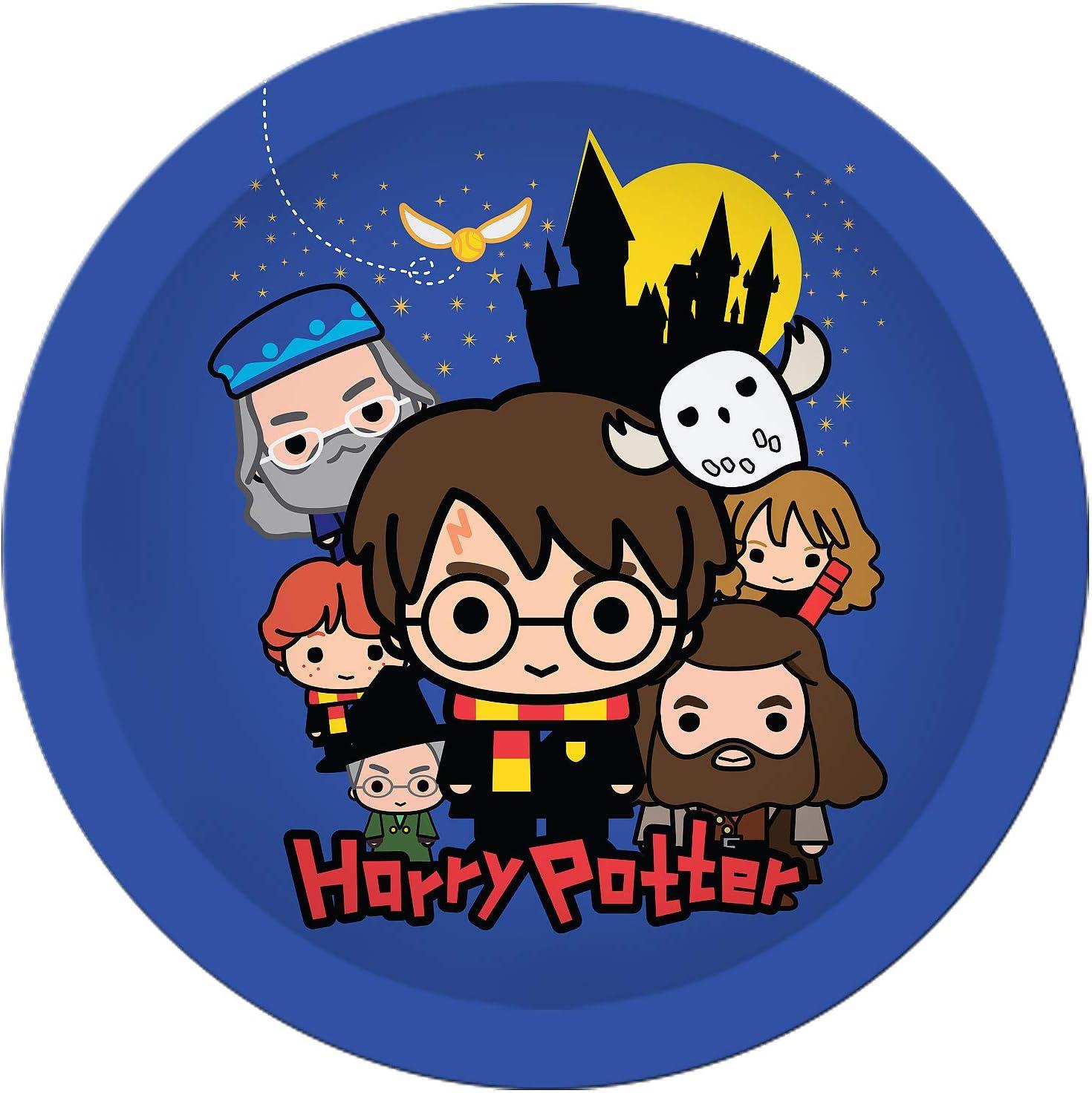 Silver Buffalo Harry Potter Chibi Party Tableware Set, 60-Piece, Blue, 60 Piece
