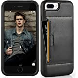 iphone 8 Plus Wallet Case , ZVE Apple iphone 7 Plus / 8 plus Case with Credit Card Holder Slot Leather Wallet Case Protective Shockproof Cover For Apple iphone 7 Plus/ 8 Plus 5.5 inch 2017 - Black