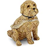 Bejewel Pewter Wheaten Terrier Dog Trinket Box