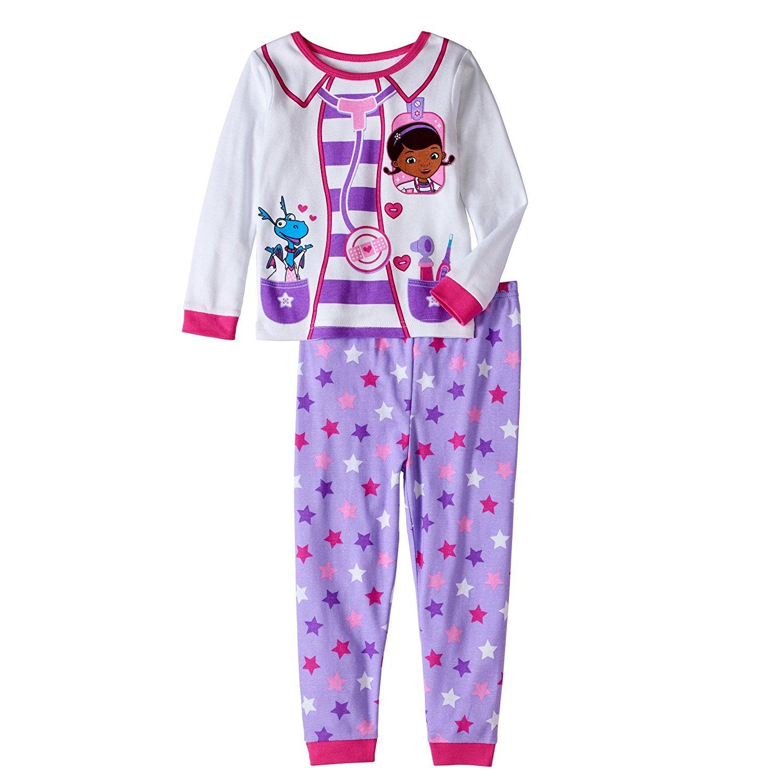 AME Sleepwear Disney Doc McStuffins Little Girls Toddler Long Sleeve Cotton Pajama Set (2T) by AME
