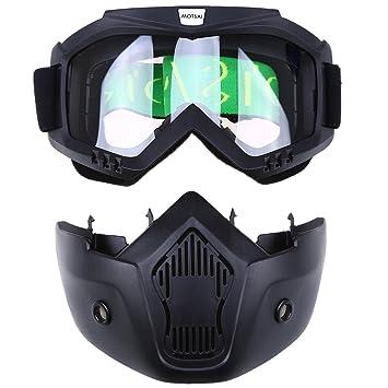 Possbay - Gafas de motocross con máscara para cascos abiertos