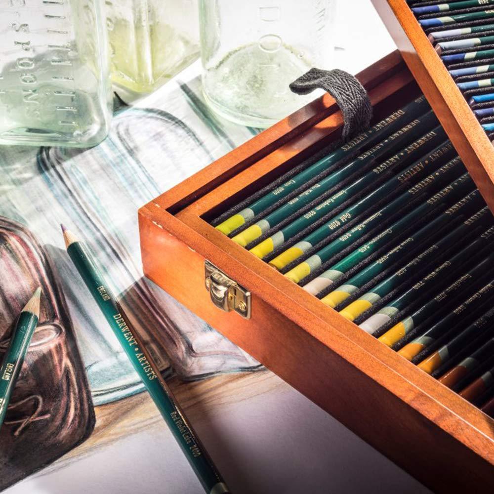 Derwent Artists Colored Pencils, 4mm Core, Wooden Box, 120 Count (32098) by Derwent (Image #4)