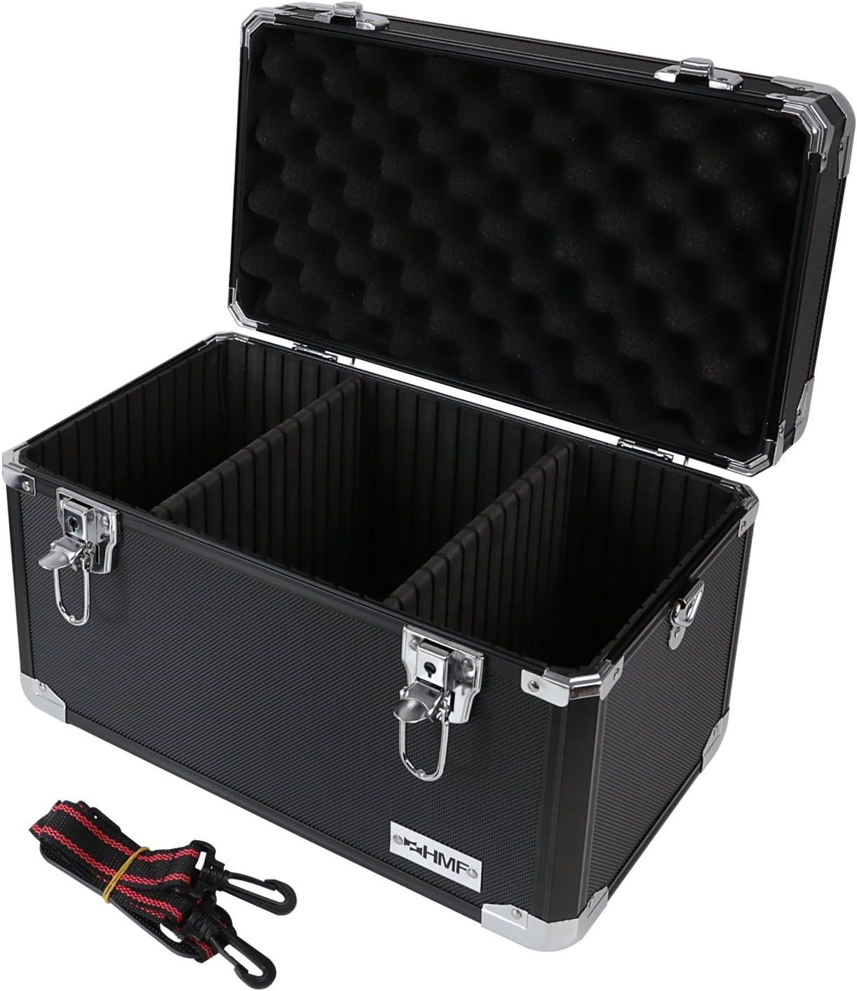 HMF 14801-02 Maletín de Transporte, Maletín para cámaras de Fotos y Accesorios, Compartimientos Individuales, Aluminio, 40 x 27,5 x 23,5 cm