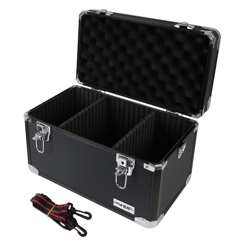 HMF 14801-02 Valise de transport en aluminium, coffre de rangement, compartiments individuels, 40 x 27,5 x 23,5 cm