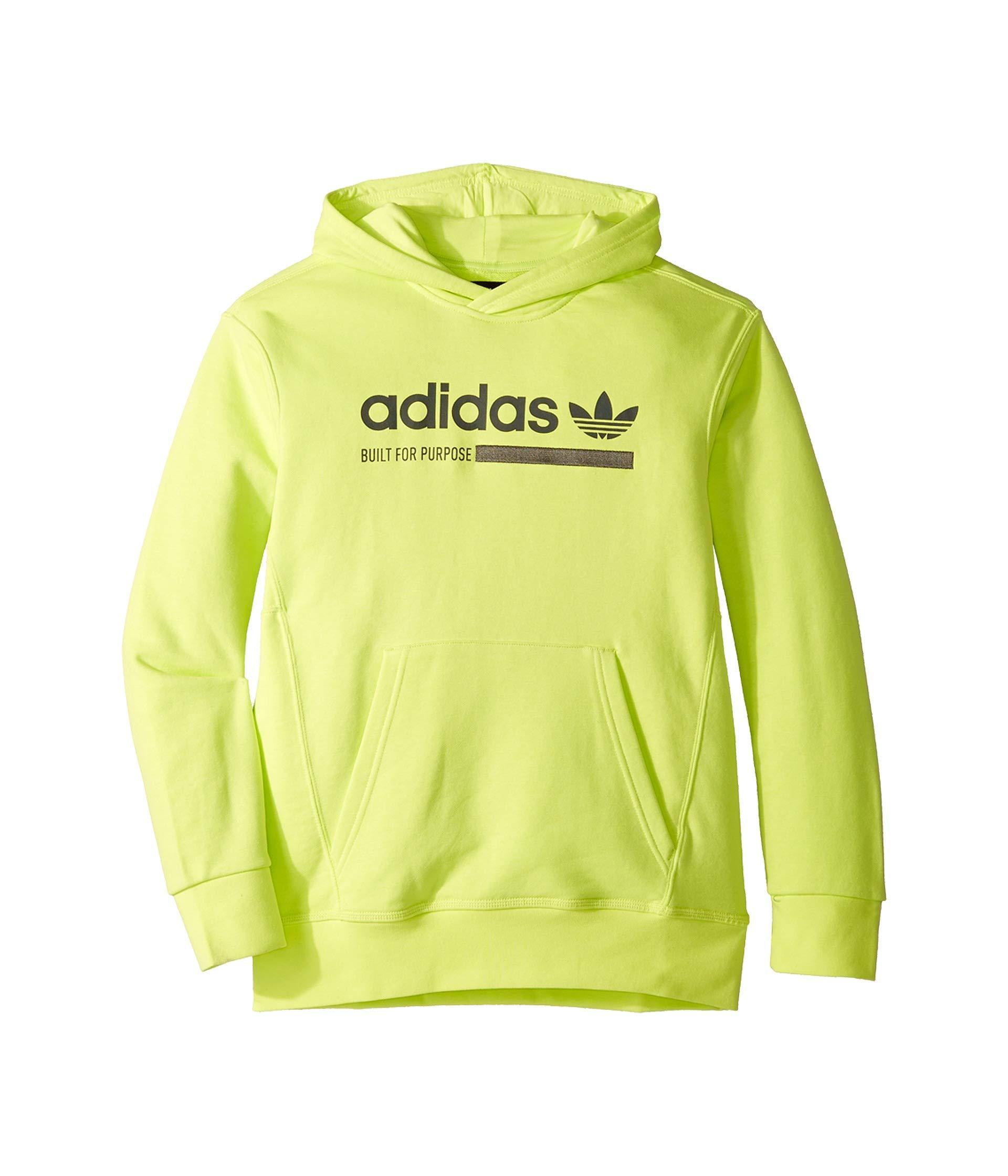 adidas Originals Kids Boy's Kaval Hoodie (Little Kids/Big Kids) Semi Frozen Yellow/Grey Six Medium