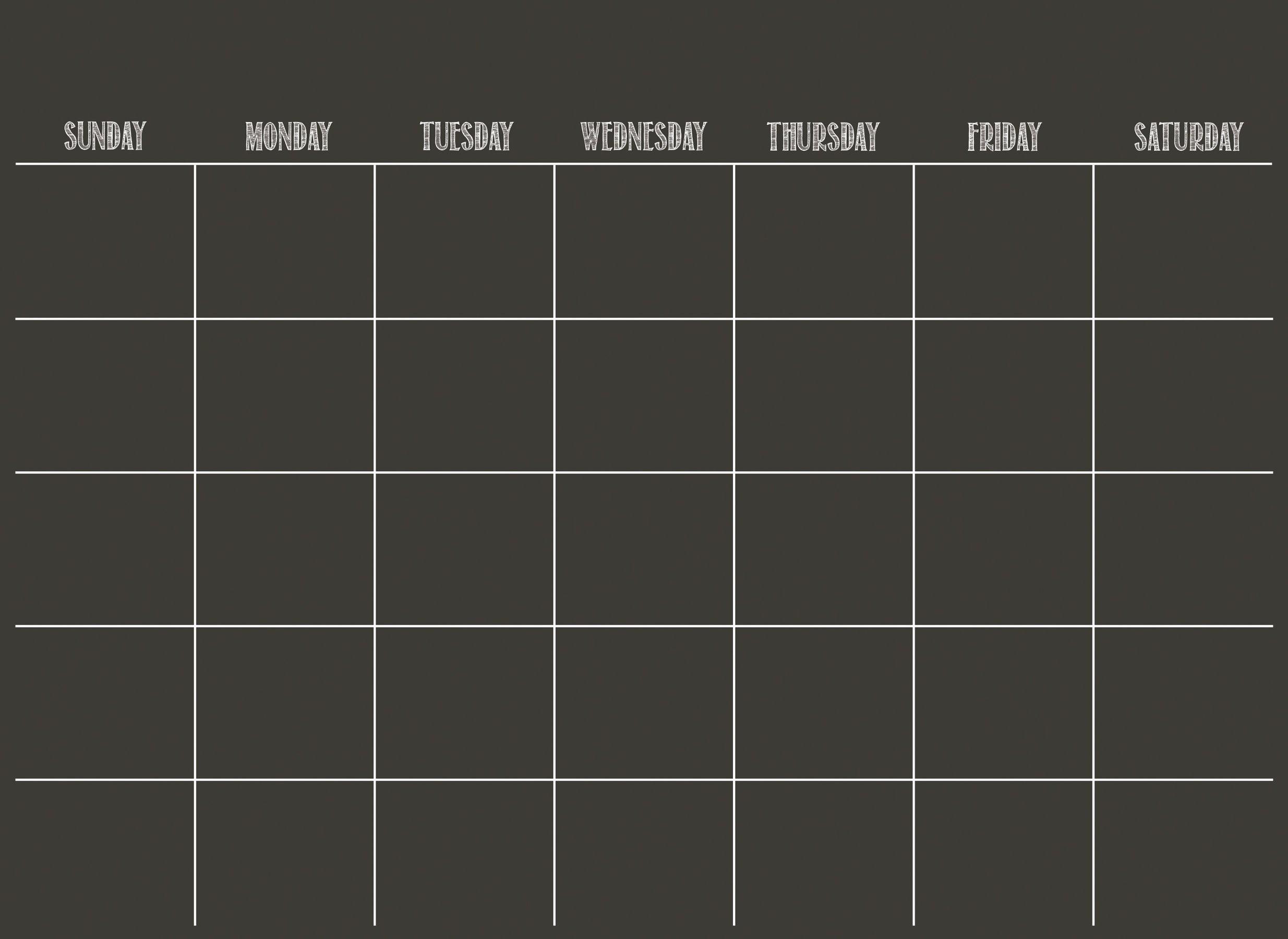 Wall Pops WPE0981 Black Dry Erase Calendar Decal
