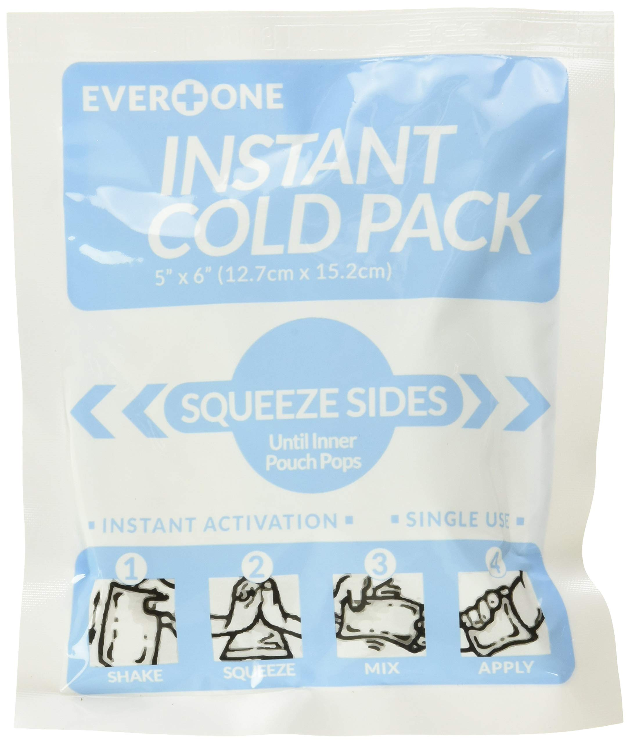 "EverOne Instant Cold Pack 5"" X 6"", 50Count"