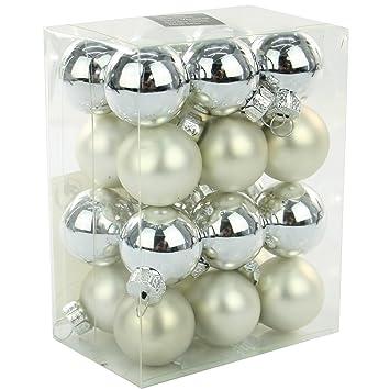 Christbaumkugeln Silber Matt.24 Weihnachtskugeln Glas 25 Mm Glaskugeln Christbaumkugeln